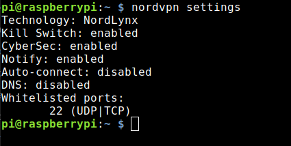 Nordlynx (VPN protocol WireGuard) on a Raspberry Pi