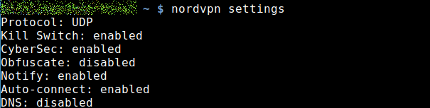 Settings for OpenVPN
