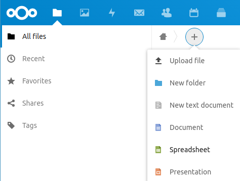 Create a new document with ONLYOFFICE