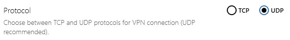 Normally you can choose UDP or TCP when using OpenVPN