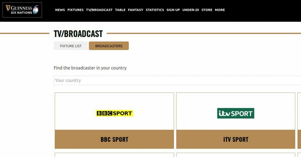 BBC and ITV Hub broadcast the Rugby Six Nations on public TV