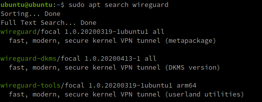 You can easily install the WireGuard packages