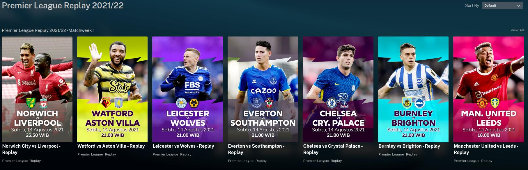 Mola.tv Replay – watch all Premier League games afterwards